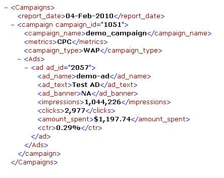 XML report